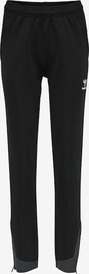 Hummel Sporthose 'Poly' in grau / schwarz / weiß, Produktansicht