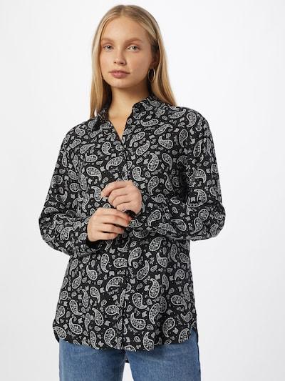 UNITED COLORS OF BENETTON Bluse in schwarz / weiß, Modelansicht