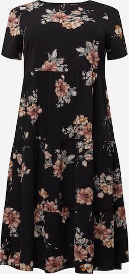 ONLY Carmakoma Kleid in de kleur Gemengde kleuren / Zwart, Productweergave