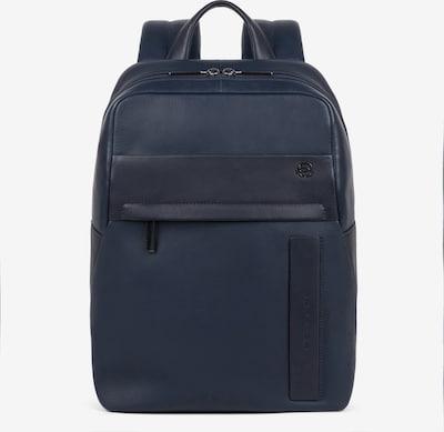 Piquadro Falstaff Rucksack Leder 34,5 cm Laptopfach in dunkelblau, Produktansicht