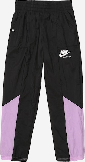 Nike Sportswear Hose in lila / schwarz / weiß, Produktansicht