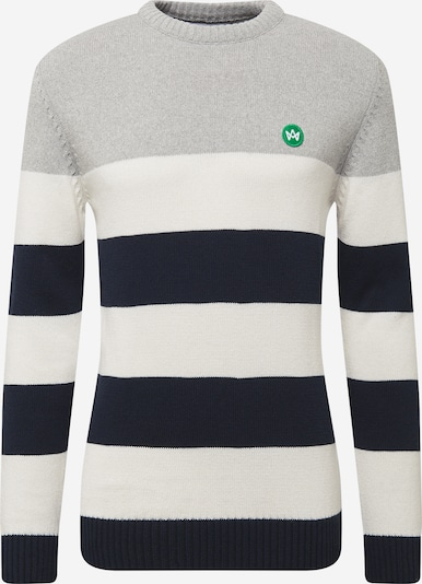 Kronstadt Pullover in navy / graumeliert / weiß, Produktansicht