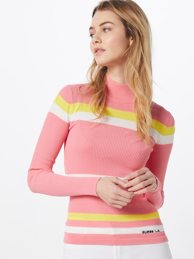 GUESS Pullover in pink, Modelansicht