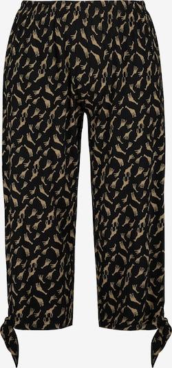Ulla Popken Pyjamabroek in de kleur Beige / Zwart, Productweergave