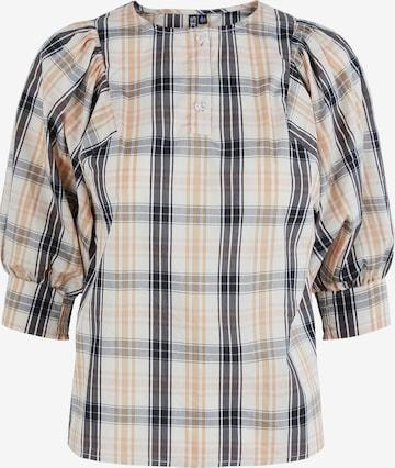 PIECES Bluse 'Elli' in Grau
