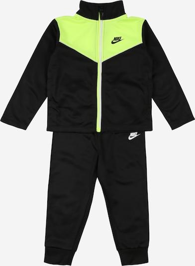 Nike Sportswear Survêtement en vert clair / noir / blanc, Vue avec produit