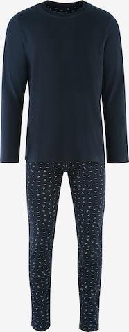 SEIDENSTICKER Long Pajamas ' Langarm ' in Blue