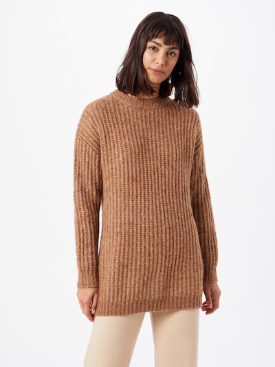 ONLY Pullover 'New Chunky' in camel: Frontalansicht