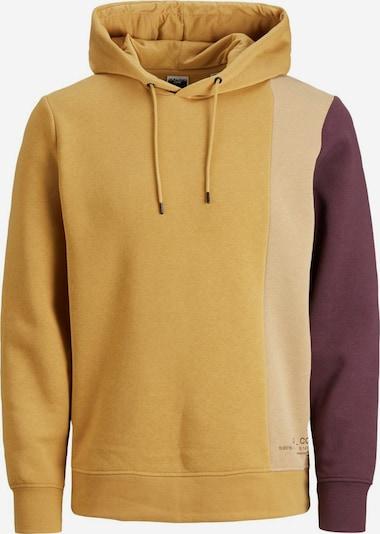 JACK & JONES Sweat-shirt en beige / moutarde / violet foncé, Vue avec produit