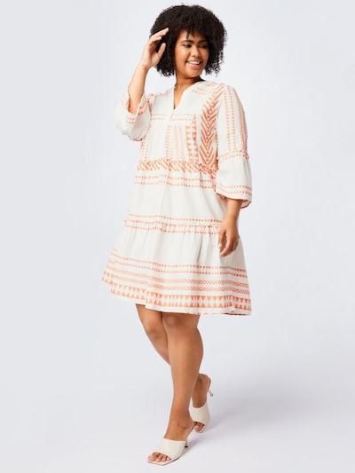 MY TRUE ME Kleid in orange / weiß: Frontalansicht