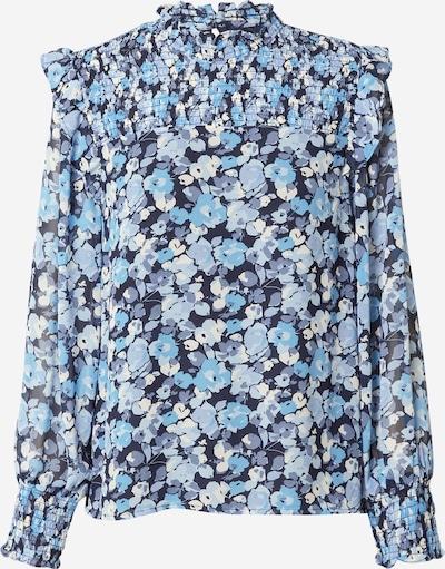 TOM TAILOR DENIM Blusa en azul noche / ópalo / azul claro / blanco, Vista del producto