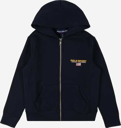 Polo Ralph Lauren Sweatjacke en navy / gelb / rot, Vue avec produit