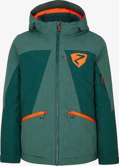 ZIENER Sportjacke 'ASTARO' in tanne / dunkelgrün / orange, Produktansicht