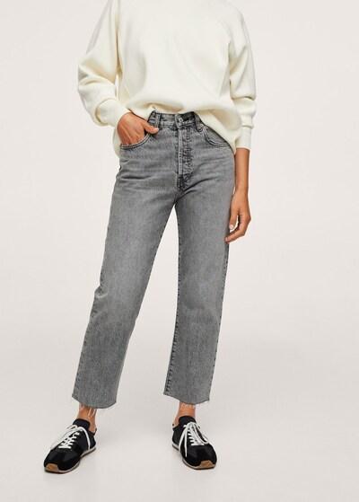 MANGO Jeans 'Havana' in Grey denim: Frontal view