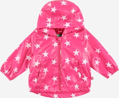 UNITED COLORS OF BENETTON Jacke in fuchsia / weiß, Produktansicht