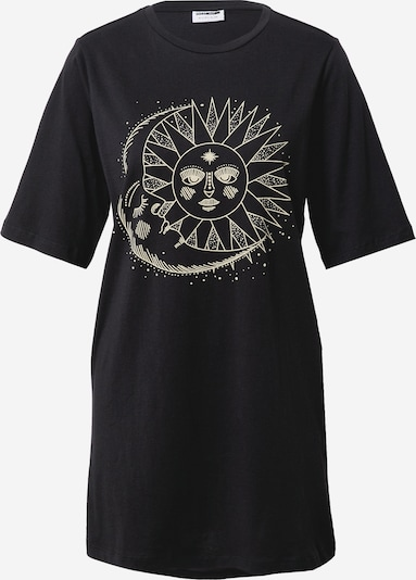 Noisy may Shirt 'ZODIAC' in gelb / schwarz, Produktansicht