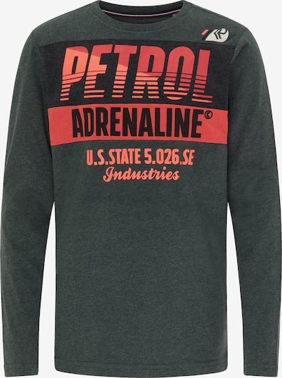 Petrol Industries Koszulka w kolorze jodła / czerwony / czarnym, Podgląd produktu