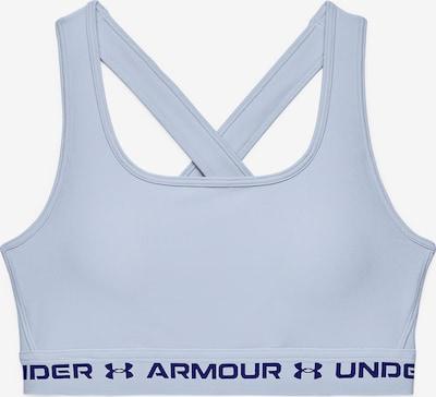 UNDER ARMOUR Sport bh in de kleur Lichtblauw / Zwart: Vooraanzicht