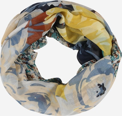 CODELLO Loop scarf in Champagne / Azure / Dusty blue / Pastel blue / Yellow, Item view