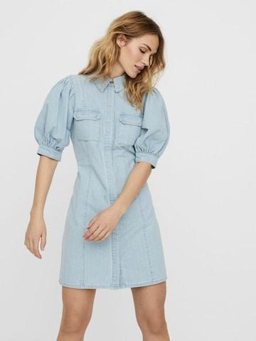 Rochie tip bluză de la VERO MODA pe albastru
