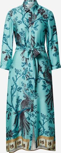 REPLAY Robe-chemise en turquoise / mélange de couleurs, Vue avec produit