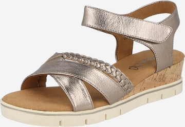 CAPRICE Strap Sandals in Gold