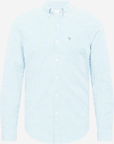 American Eagle Chemise en bleu clair / blanc, Vue avec produit