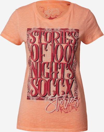 Soccx Shirt in pastellgelb / orange / rot, Produktansicht