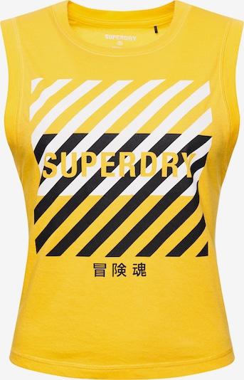 Superdry Sporttop in de kleur Geel / Zwart / Wit, Productweergave