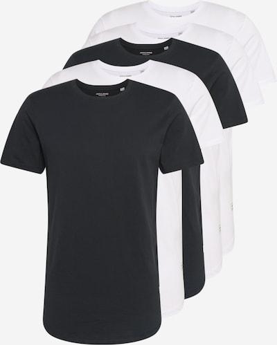 Marškinėliai 'JJENOA TEE SS CREW NECK 5PK MP' iš JACK & JONES , spalva - juoda / balta, Prekių apžvalga