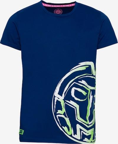 BIDI BADU T-Shirt Madox mit großem Markenprint in blau, Produktansicht