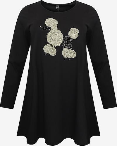 Yoek Tunika 'Poodle' in schwarz / silber, Produktansicht