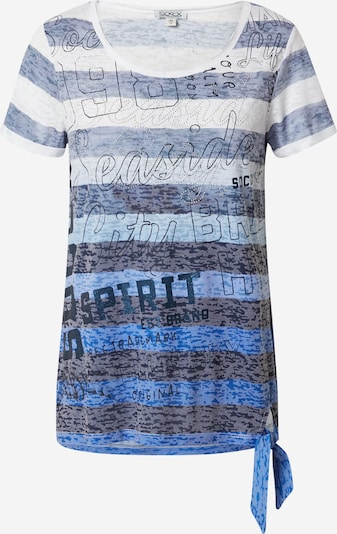Tricou Soccx pe bleumarin / albastru regal / alb, Vizualizare produs