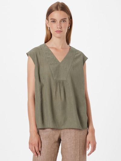 OPUS Bluse 'Farani' in khaki, Modelansicht