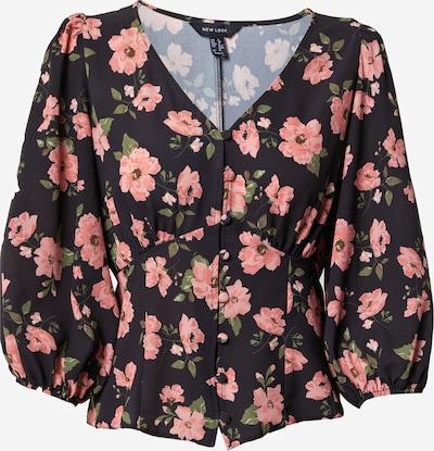 NEW LOOK Bluse in grün / pink / schwarz, Produktansicht