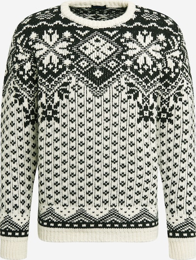 Best Company Pullover in dunkelgrün / weiß, Produktansicht