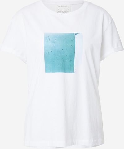 ARMEDANGELS T-Shirt 'NAALIN' in türkis / weiß, Produktansicht