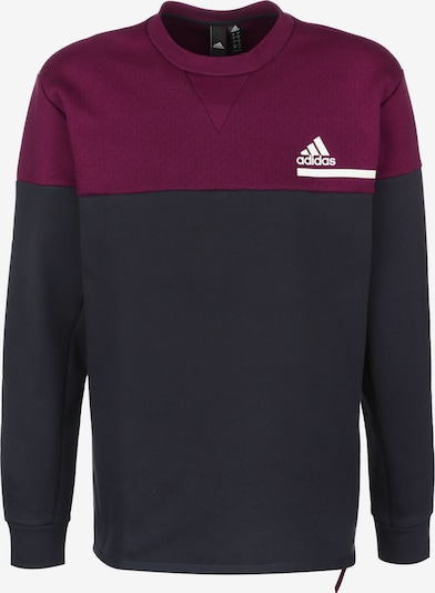 ADIDAS PERFORMANCE Sweatshirt 'Z.N.E.' in navy / weinrot / weiß, Produktansicht