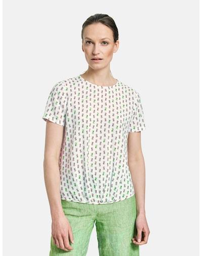 GERRY WEBER Blusenshirt aus Viskose in grasgrün / altrosa, Modelansicht