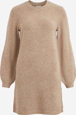 OBJECT Stickad klänning 'Eve Nonsia' i brun
