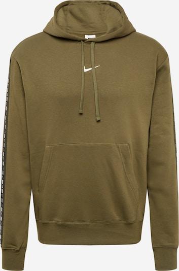 Bluză de molton Nike Sportswear pe oliv / negru / alb, Vizualizare produs