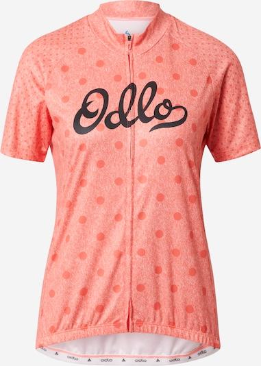 Tricou funcțional ODLO pe somon / negru / alb amestacat, Vizualizare produs