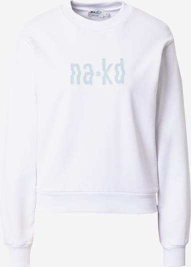 NA-KD Sweat-shirt en bleu clair / blanc, Vue avec produit