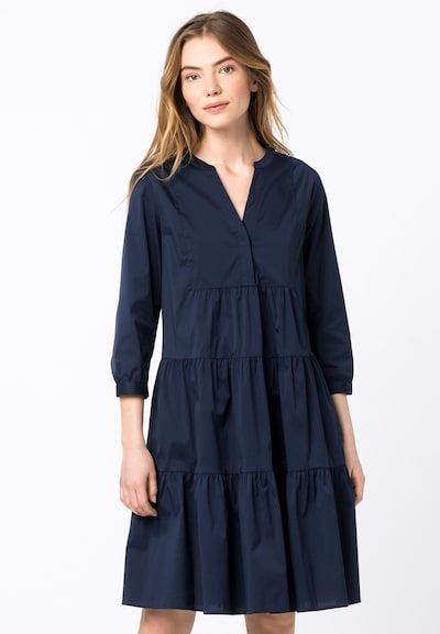 HALLHUBER Blusenkleid in nachtblau, Modelansicht