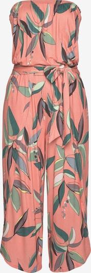 s.Oliver Jumpsuit in grau / grün / koralle / weiß, Produktansicht