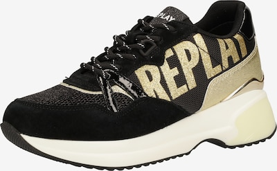 REPLAY Sneaker in gold / schwarz, Produktansicht