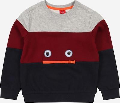 s.Oliver Junior Sweatshirt in dunkelblau / graumeliert / dunkelrot, Produktansicht