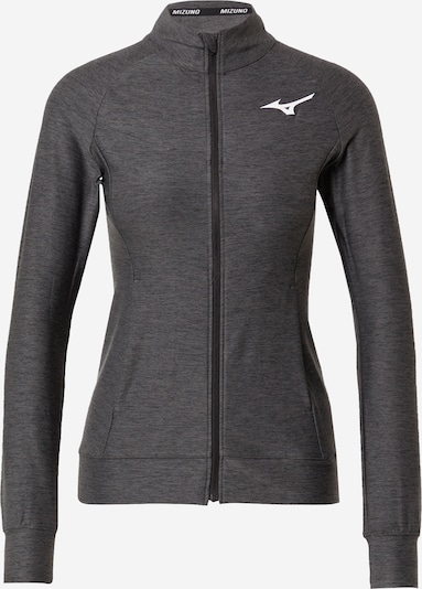 MIZUNO Sports sweat jacket in Black mottled, Item view