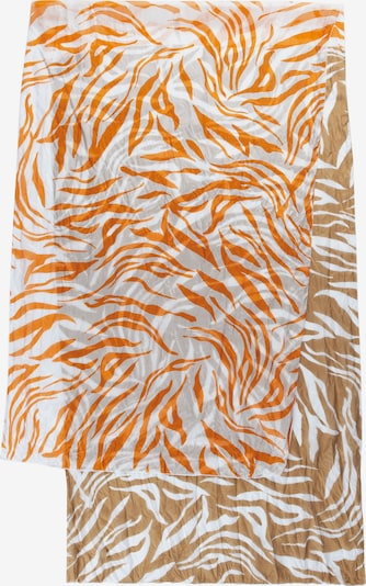 CODELLO Scarf in Brown / Light orange / White, Item view