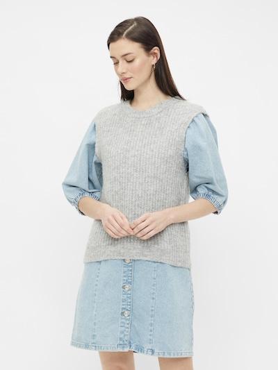 PIECES Pullover in grau, Modelansicht